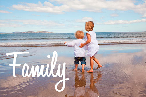 An image of a brother and sister at the beach by Erin Winsley Photography for Family Photography Gold Coast