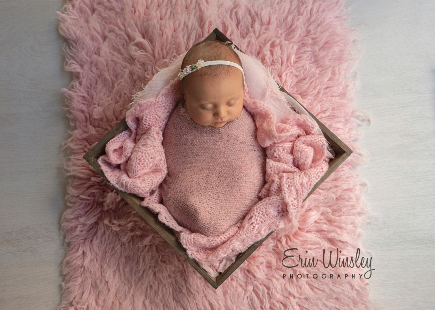 Newborn-Photography-Pimpama-baby-girl-wrapped-in-pink
